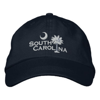 South Carolina State Flag Design Embroidered Baseball Hat