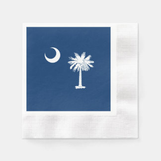 South Carolina State Flag Design Coined Cocktail Napkin