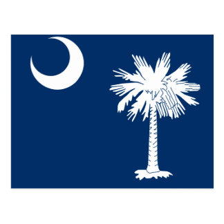 South Carolina State Flag Design Postcard
