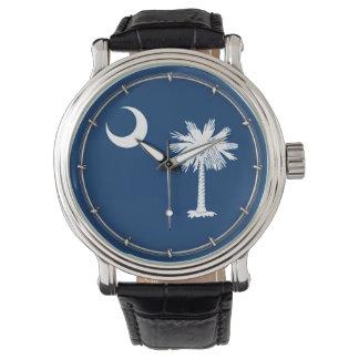 South Carolina State Flag Design Wrist Watch