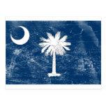 South Carolina State Flag (Distressed) Post Card