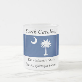 South Carolina State Flag Frosted Glass Coffee Mug