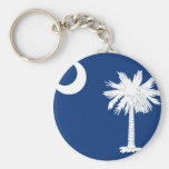 South Carolina State Flag Basic Round Button Keychain