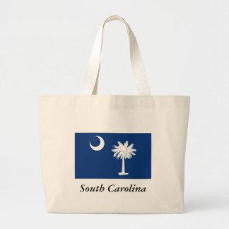 South Carolina State Flag Large Tote Bag