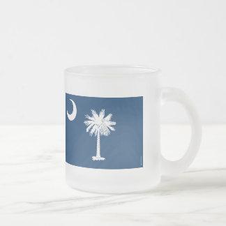South Carolina State Flag 10 Oz Frosted Glass Coffee Mug