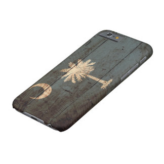 South Carolina State Flag on Old Wood Grain Barely There iPhone 6 Case