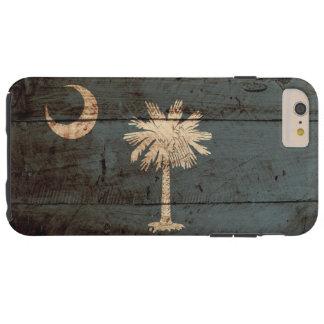 South Carolina State Flag on Old Wood Grain Tough iPhone 6 Plus Case