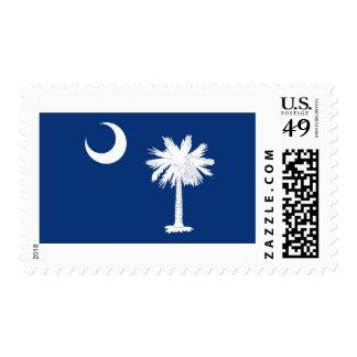 South Carolina State Flag Postage Stamp