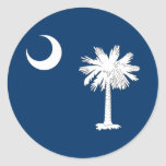 South Carolina State Flag Round Stickers