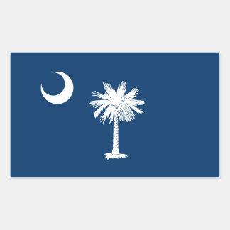 South Carolina State Flag Rectangle Sticker