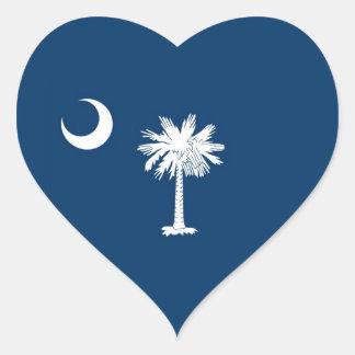 South Carolina State Flag Heart Sticker