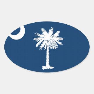 South Carolina State Flag Oval Stickers