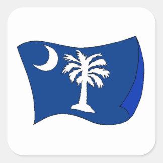South Carolina State Flag Square Stickers