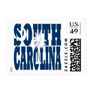 South Carolina  state flag text Postage