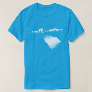 South Carolina state in white T-Shirt