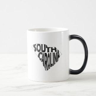 South Carolina State Name Word Art Black Magic Mug