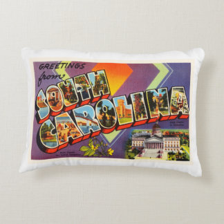 South Carolina State SC Old Vintage Postcard- Accent Pillow