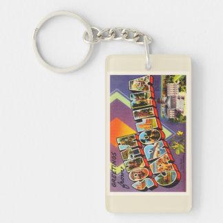 South Carolina State SC Old Vintage Postcard- Keychain