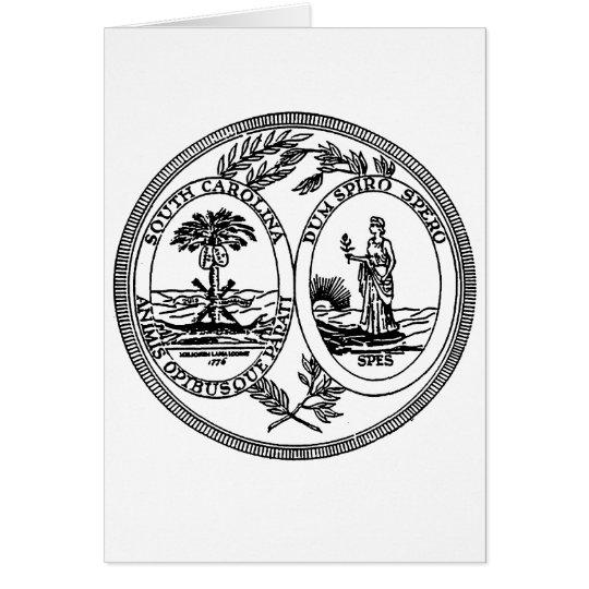 South Carolina State Seal Card