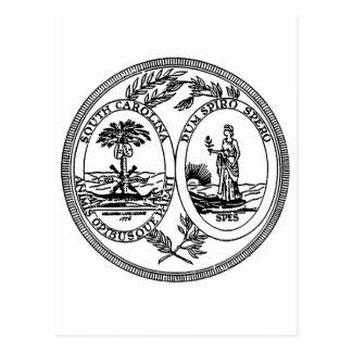 South Carolina State Seal Post Card
