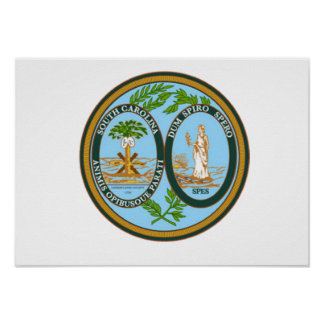 South Carolina State Seal Poster