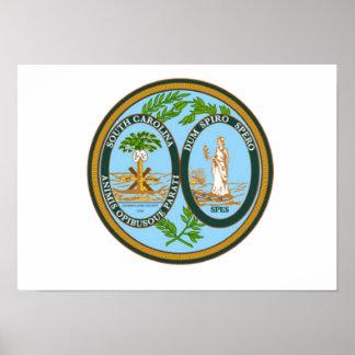 South Carolina State Seal Poster