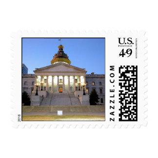 South Carolina Statehouse Small Postage Stamp