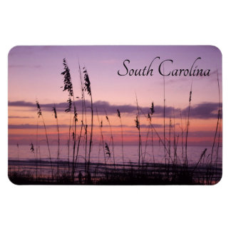 South Carolina Sunset with Sea Oats Magnet
