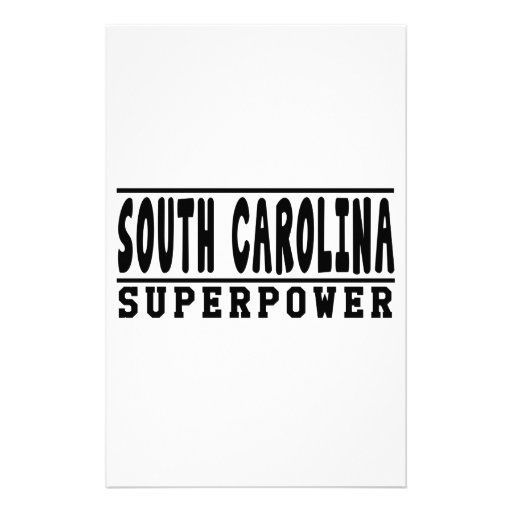 South Carolina Superpower Designs Personalized Stationery