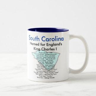 South Carolina Symbols & Map Mug