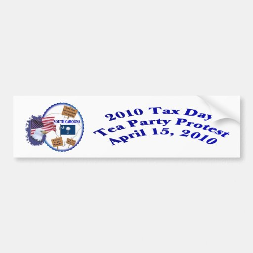 South Carolina Tax Day Tea Party Protest Bumper Stickers
