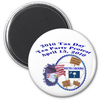 South Carolina Tax Day Tea Party Protest Magnet