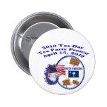 South Carolina Tax Day Tea Party Protest Pin