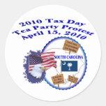 South Carolina Tax Day Tea Party Protest Sticker
