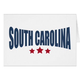 South Carolina Three Stars Design Greeting Card