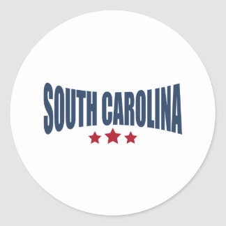 South Carolina Three Stars Design Classic Round Sticker