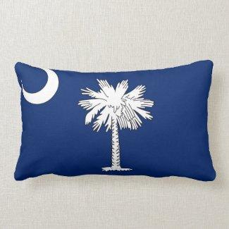 South Carolina Throw Pillow (blue/white)