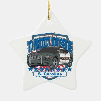 South Carolina To Protect and Serve Police Car Ceramic Ornament