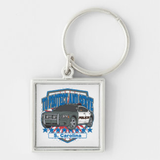 South Carolina To Protect and Serve Police Car Keychain