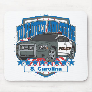 South Carolina To Protect and Serve Police Car Mouse Pad