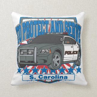 South Carolina To Protect and Serve Police Car Pillow