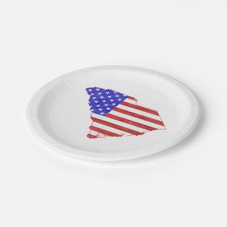 South Carolina USA flag silhouette state map Paper Plate