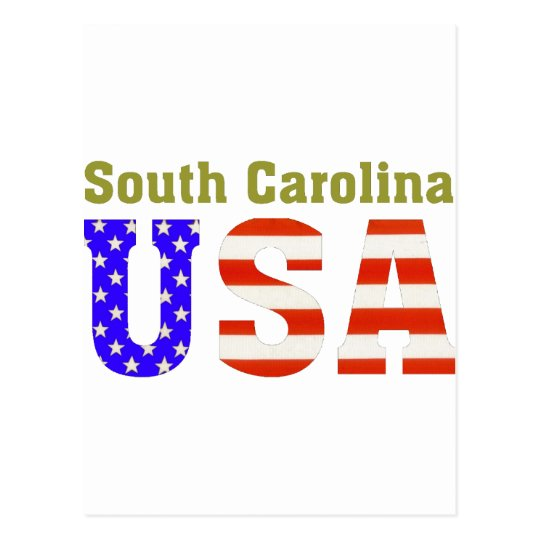 South Carolina USA! Postcard