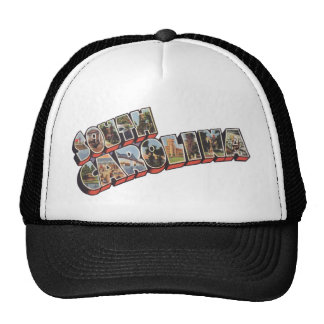 South Carolina View Large Letters Trucker Hat