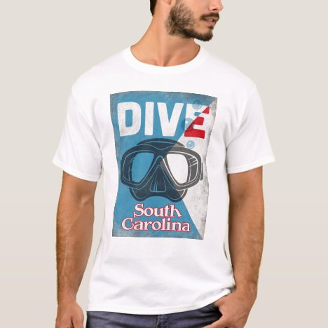 South Carolina Vintage Scuba Diving Mask T-Shirt