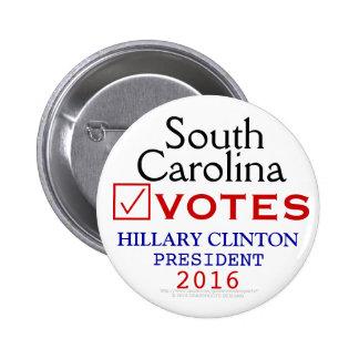 South Carolina Vote Hillary Clinton President 2016 Button