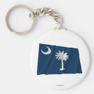 South Carolina Waving Flag Key Chains