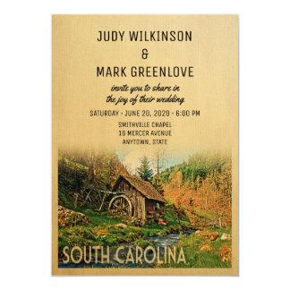 South Carolina Wedding Invitation Rustic Cabin Mil