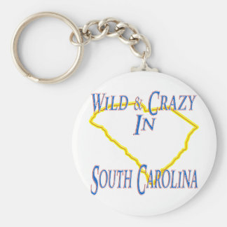 South Carolina - Wild and Crazy Basic Round Button Keychain
