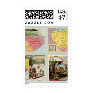 South Carolina, Wisconsin, Maine, Michigan Postage Stamp